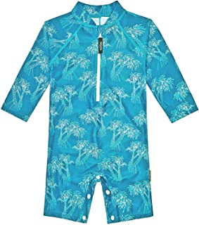 weVSwe Baby Toddler Swimsuit UPF 50+ Sun Protection Recycled Polyester Rash Guard One Piece Swimwear with Crotch Buttons