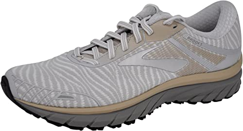 Brooks Men's Adrenaline GTS 18 blanco gris Tan 9.5 D US D (M)