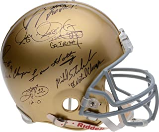 Notre Dame Fighting Irish Autographed Legends Authentic Helmet with 6 Signatures - Limited Edition of 88 - Fanatics Authentic Certified