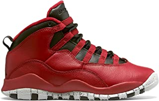 brand new 84086 eca4d Nike Boys Air Jordan 10 Retro 30th BG Bulls Over Broadway Gym Red-Black-