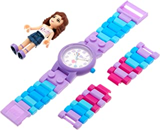 LEGO Friends 8020165 Olivia Kids Buildable Watch with Link Bracelet and Minifigure | purple/white