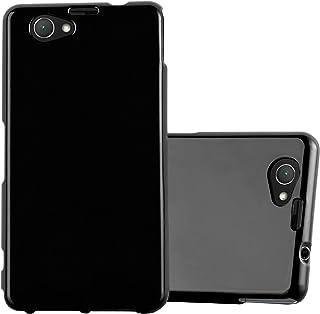 Cadorabo Funda para Sony Xperia Z1 Compact en Jelly Negro - Cubierta Proteccíon de Silicona TPU Delgada e Flexible con Antichoque - Gel Case Cover Carcasa Ligera