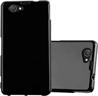 Cadorabo Case Works with Sony Xperia Z1 Compact in Jelly Black – Shockproof and Scratch Resistant TPU Silicone Cover – Ultra Slim Protective Gel Shell Bumper Back Skin