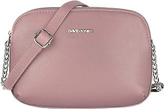 David Jones - Damen Mittelgroße Umhängetasche Viele Taschen Fächer - Reißverschluss Multi Pocket Schultertasche PU Leder -...