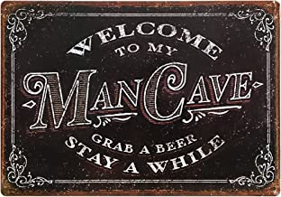 CPMC-0203 RUBEN/'S MAN CAVE Rustic Chic Tin Sign Man Cave Decor Gift Ideas