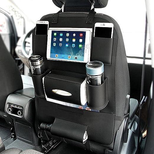 Yoosun Auto Organizer Rückseite Sitz Rückenlehnenschutz Auto Rücksitz Organizer Für Kinder Mit Tablet Halterung Mit Kick Matte Und Sitz Cover Double 1 Pack Baby