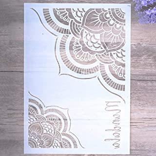 DIY Decorative Mandala Stencil Template for Painting on Walls Furniture Crafts (A4 Size)