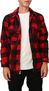 Mens Buffalo Plaid Fleece Jacket