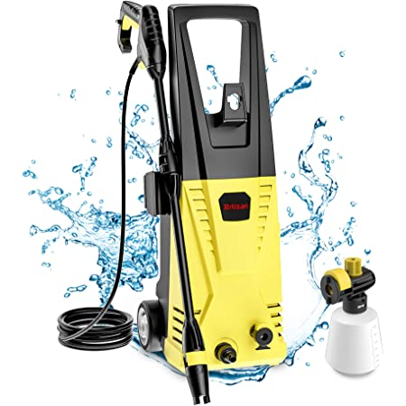 Amazon Com Xtremepowerus 61032 Jet 1300 Psi 1 2 Gpm Sprayer Mini Electric Pressure Washer Cleaner Machine Soap Dispenser Yellow Garden Outdoor