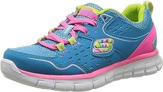 Skechers Girls Synergy - Alister Lace-Up Flats 80877L, Blue/Multi, 12 AU Child
