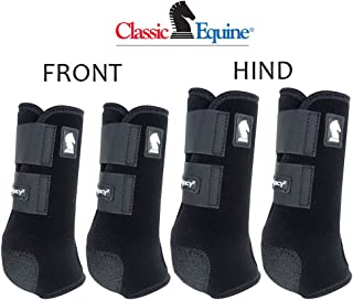 Classic Equine MEDIUM LEGACY2 HORSE FRONT HIND SPORTS BOOTS 4 PACK BLACK