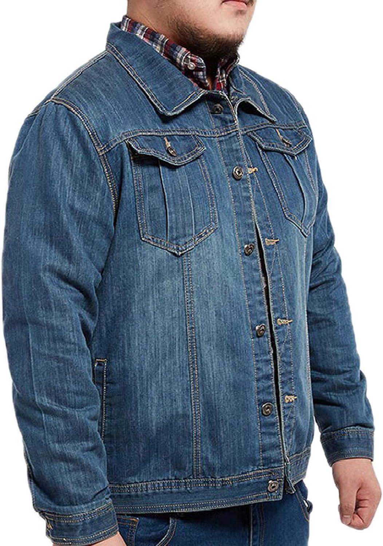 Elonglin Men's Denim Jacket Max 81% OFF Long Beach Mall Style Classic Western Trucker