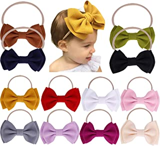 Baby Girl Nylon Headbands Newborn Infant Toddler Bow...
