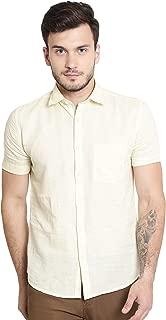 Crimsoune Club Yellow Solid Men's Shirt