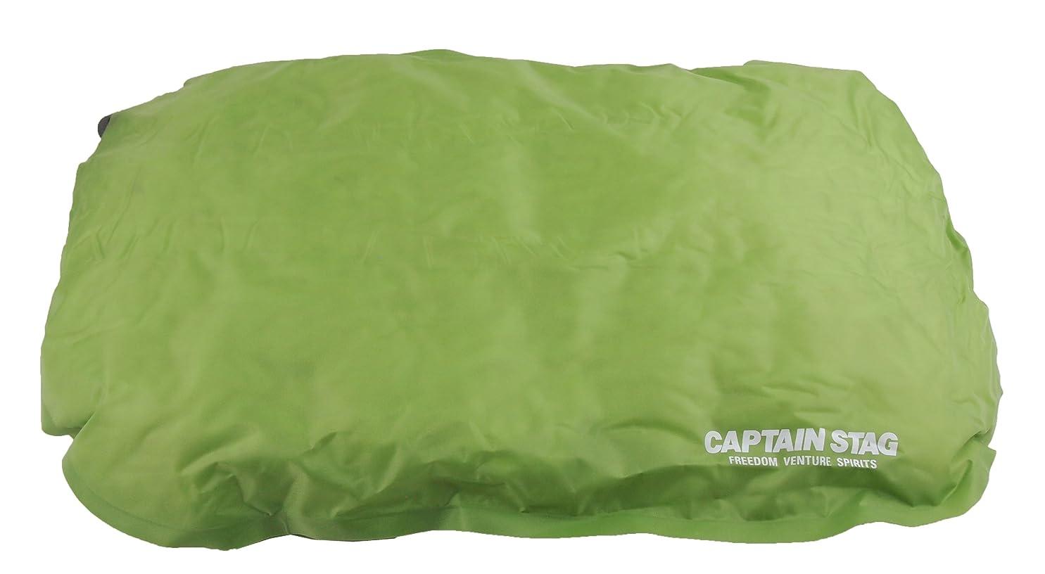 対人数学粉砕するキャプテンスタッグ(CAPTAIN STAG) キャンプ用品 枕 防水 インフレータブル インフレーティングピロー グリーンUB-3017