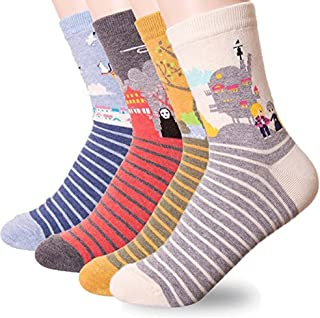 Women Socks Gift Set - Animal Cat Dog Art Cartoon Character Funny | Gifts for Ladies, Girl friend, Mom