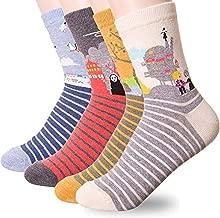 Women Socks Gift Set - Animal Cat Dog Art Cartoon Character Funny | Gifts for Ladies, Girl friend, Mom