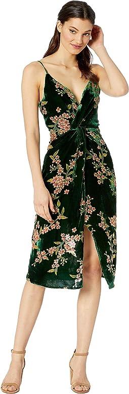 Velvet Front Twist Dress