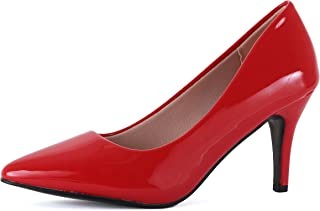 a434c2f6621c Guilty Shoes Womens Classic - Closed Pointy Toe Low Kitten Heel - Dress  Slip On Pump