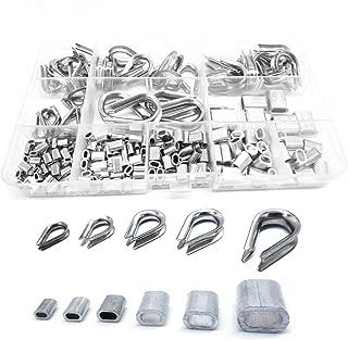 manchons /à sertir /à double barillet M1,2 /à M6 Aussel 340 pi/èces 8 tailles de manchons pour c/âbles m/étalliques c/âbles en aluminium
