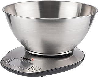 Korona 75880 balance de cuisine Mila | capacité 5 kg, graduation 1 g | écran LCD facile à lire | grand bol en acier inoxyd...
