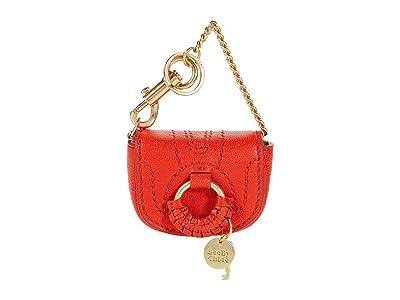 See by Chloe Micro Hana Keychain (Happy Orange) Wallet