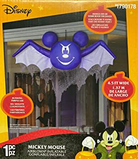 Gemmy 4 1/2 Airblown Inflatable Disney Hanging Mickey Mouse as Bat