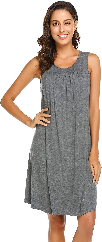 Ekouaer Women's Labor/Delivery/Maternity Nursing Nightgown for Hospital Breastfeeding Sleepwear S-XXL