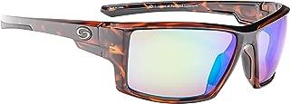 Strike King S11 Pickwick Polarized Sunglasses, UVA/UVB Protection, Shiny Tortoiseshell Frame, Multi Layer Green Mirror Amber Base Lens
