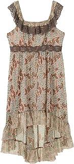 Anna Sui Women'S Mint Foxglove Crinkle Chiffon High Low Dress