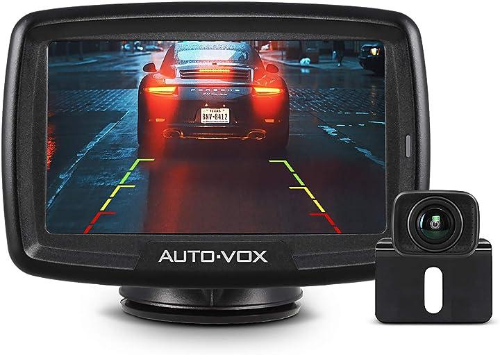 Telecamera retromarcia wireless digitale, impermeabile ip68, visione notturna, monitor da 4.3