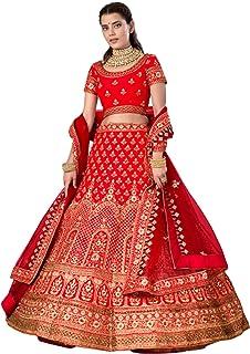 أحمر هندي لحفل الزفاف الاستقبال للعروس غاغرا ستان & تنورة Lehenga Choli Dupatta تنورة 6229
