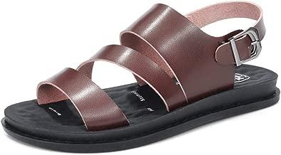 Kingwhisht Women Beach Sandals Genuine Split Leather Women Slippers Flip Flops Sneakers Casual Summer Shoes
