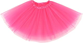 Women's Adult Classic Elastic 3 or 4 Layered Tulle Tutu Skirt