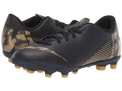 Nike Kids Vapor 12 Club MG Soccer (Toddler/Little Kid/Big Kid) (Black/Metallic Vivid Gold) Kids Shoes