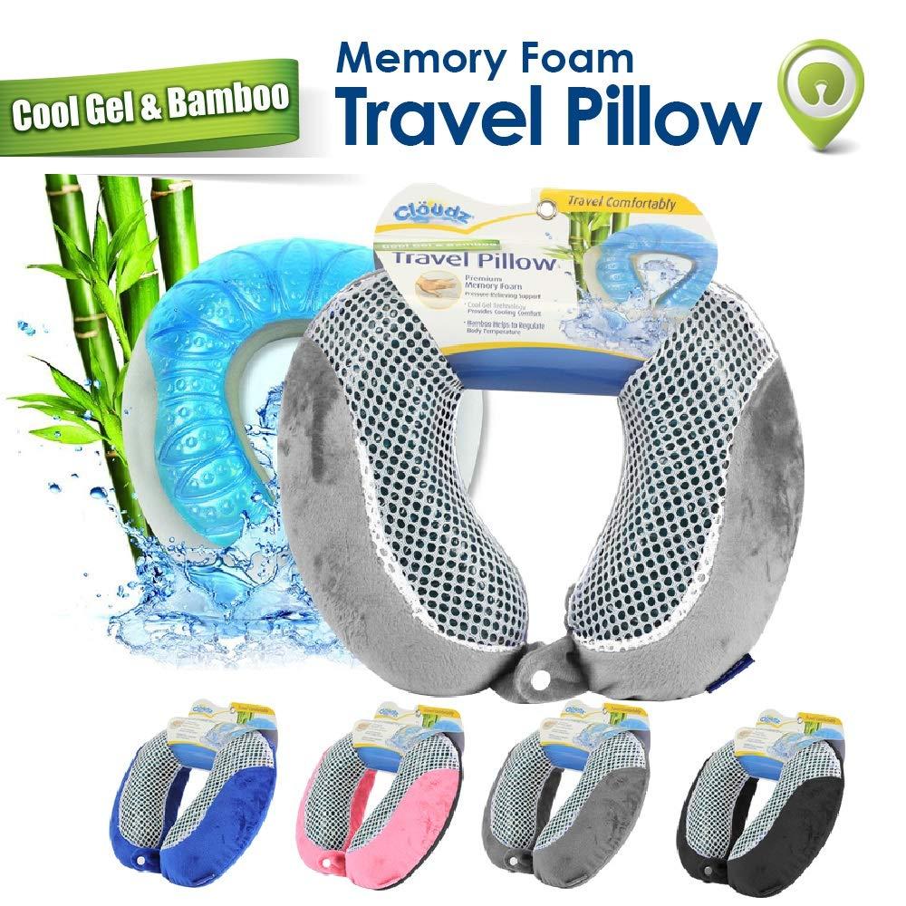 Cloudz Memory Bamboo Travel Pillow