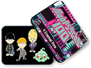 a4583f099b3 Anime Mob Psycho 100 4-Piece Enamel Collector Pin Set and Manga Collectible  Accessories -