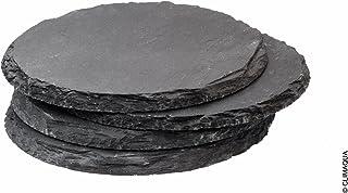CLIMAQUA Zen - Plato (Plato para Aperitivos, Alrededor, Piedra, Antracita, 10 cm, 6 mm)