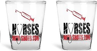 Nurses Need Shots Too - Funny Nurse Birthday Gift - Nursing Graduation Gifts - Set Of 2-1.75oz Shot Glass By Funnwear