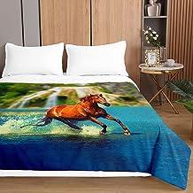 Chickwin 3D kołdra z nadrukiem zwierzęcym koń narzuty na łóżko bawełniana kołdra wypełniająca, lekka kołdra z mikrofibry -...