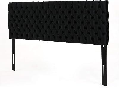 Christopher Knight Home Jezebel Tufted Velvet Headboard, King / Cal King, Black / Black,303884