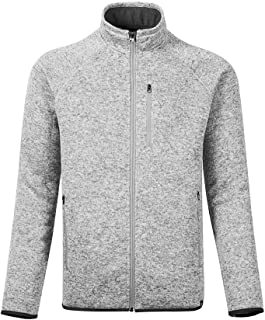 Dolcevida Men's Soft Shell Sweatshirt Full-Zip Midweight Fleece Sweater Knit Jacket
