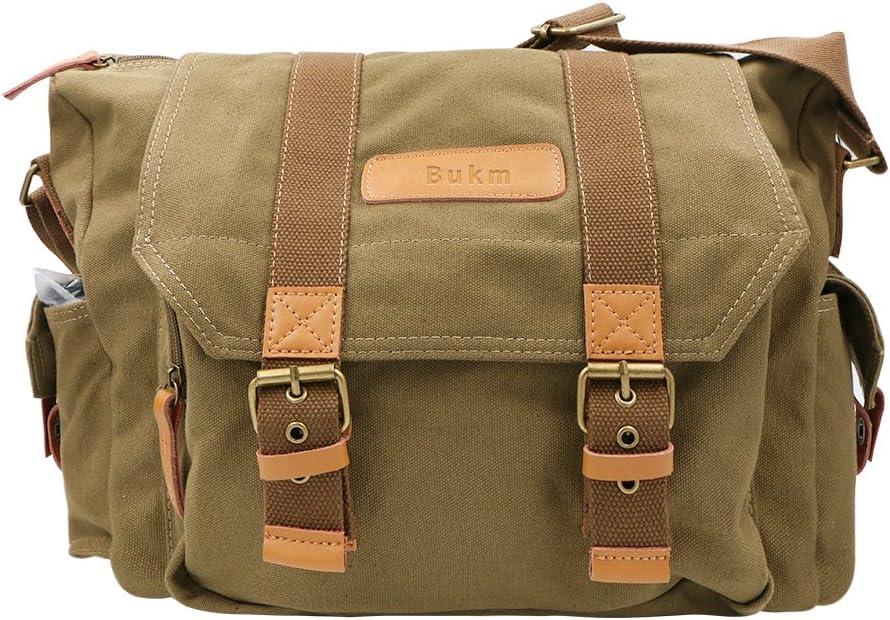Max 56% OFF SLR Camera Bag Bukm Waterproof Canvas Messenger DSLR Vintag Minneapolis Mall