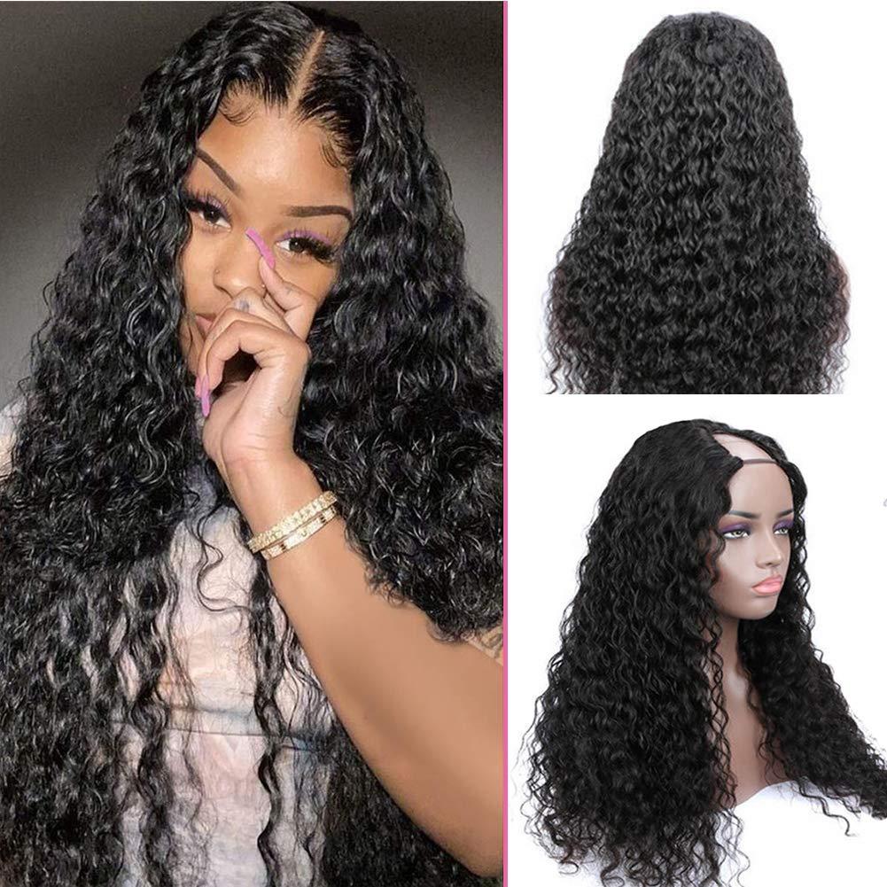 U Part Wig Human Hair Wigs for Brazilian Dee inch Women 16 New life Black Charlotte Mall