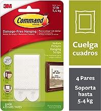 Command 17201 Fascette Adesive Per Quadri, 4 Pezzi, Istruzioni Solo in Lingua Inglese