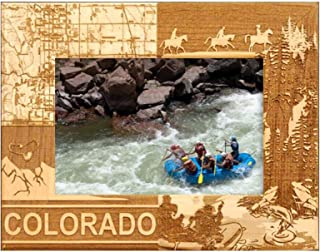 Colorado Laser Engraved Wood Picture Frame (5 x 7)