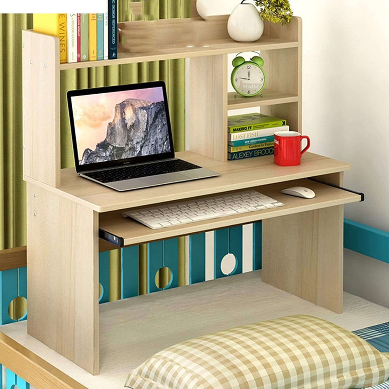 ZZ Folding Table Bed Computer Desk Lazy Table Simple Bedroom Study Small Desk 4 colors Available 80  80cm (color   A)