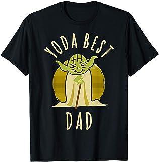 Star Wars Yoda Best Dad Cartoon Yoda T-Shirt