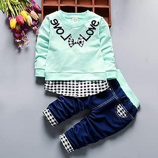 pantaloni lunghi abiti da gentiluomo Set 2 pcstoddler BABY BOYS KIDS solido camicia Tops