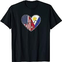 Philippines USA Flag Filipino American Couples T-Shirt